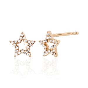 Серьги Звездочки с бриллиантами