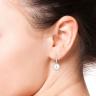 Серьги кольца с жемчугом, Изображение 2