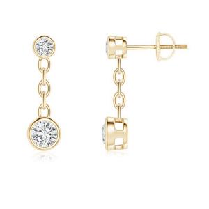 Серьги цепочки с бриллиантами