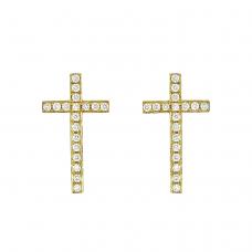 Серьги пусеты крестики