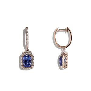 Серьги с танзанитом и бриллиантами