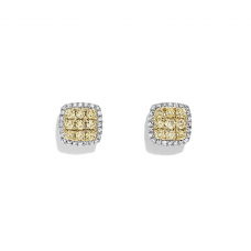 Серьги с желтыми бриллиантами