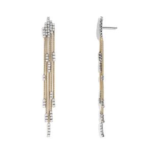 Длинные серьги цепочки с бриллиантами