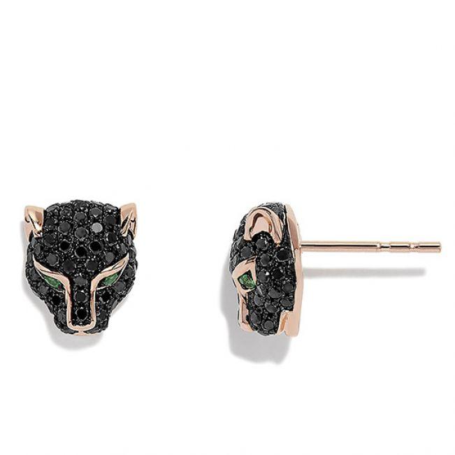 Серьги с черными бриллиантами - Фото 1