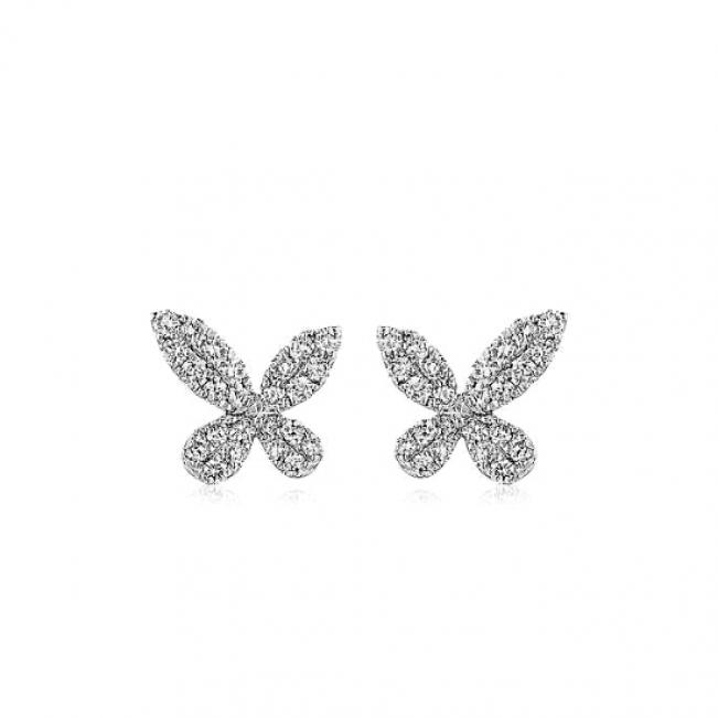 Серьги бабочки с бриллиантами