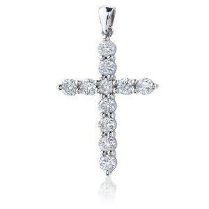 Крестик с бриллиантами 1.12 карата