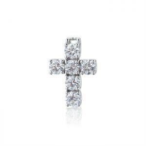 Крестик с 6 бриллиантами
