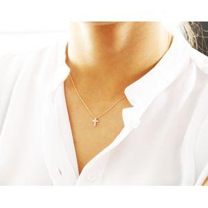 Крестик с 6 бриллиантами - Фото 1