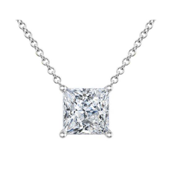 Кулон на цепочке с бриллиантом Принцесса, Больше Изображение 1