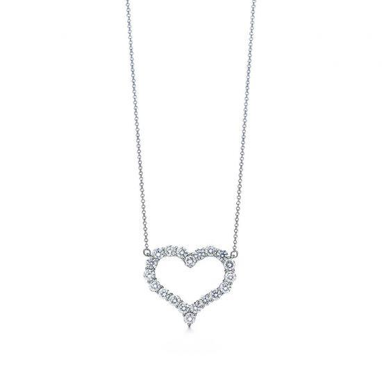 Бриллиантовый кулон сердце, Больше Изображение 1