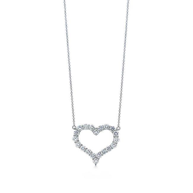 Бриллиантовый кулон сердце
