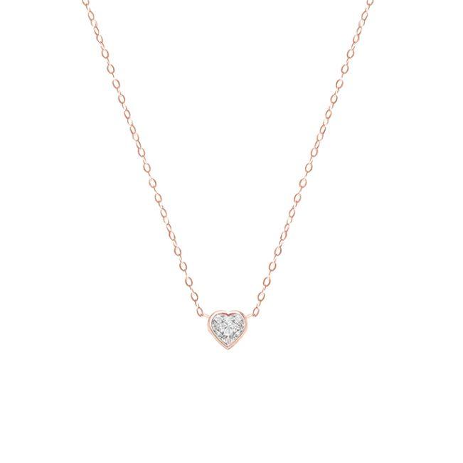 Кулон с бриллиантом Cердце