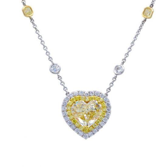 Колье с бриллиантом огранки сердце,  Больше Изображение 2