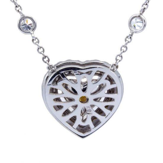 Колье с бриллиантом огранки сердце,  Больше Изображение 5