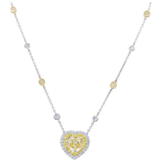 Колье с бриллиантом огранки сердце, Больше Изображение 1