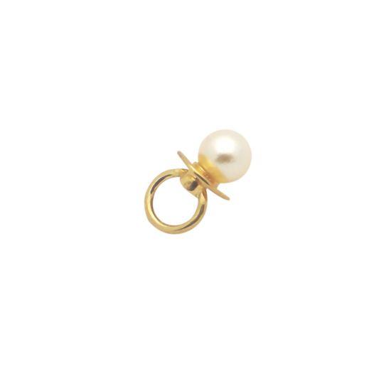 Золотой кулон с морским жемчугом «Соска», Больше Изображение 1