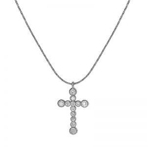Подвеска крестик с бриллиантами