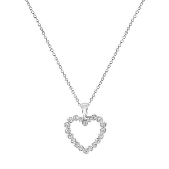 Подвеска в форме сердца с бриллиантами, Больше Изображение 1