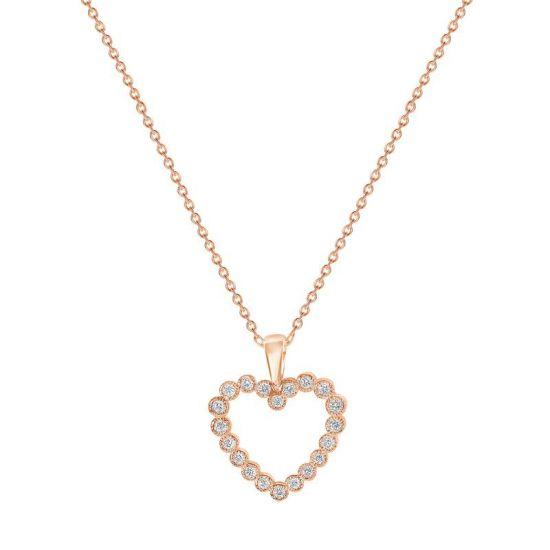 Подвеска в форме сердца с бриллиантами,  Больше Изображение 2