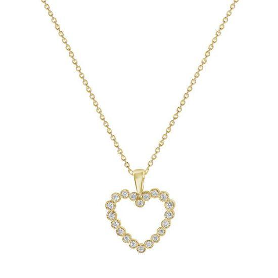Подвеска в форме сердца с бриллиантами,  Больше Изображение 3