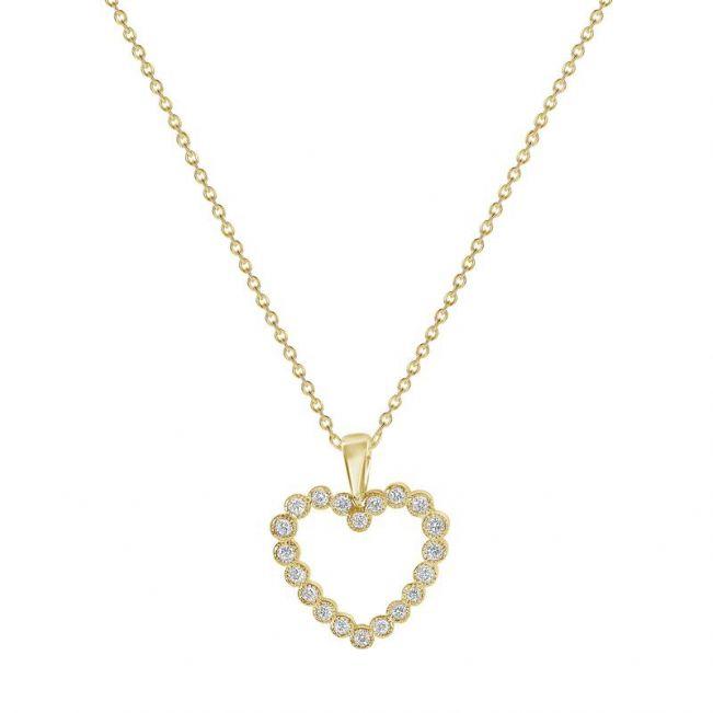 Подвеска в форме сердца с бриллиантами
