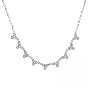 Колье с белыми бриллиантами