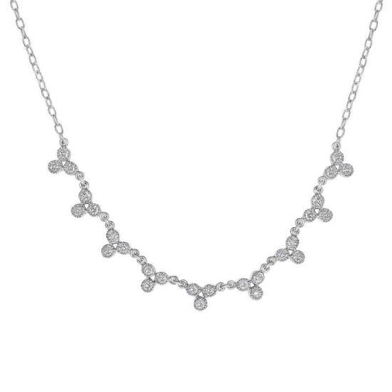 Колье с белыми бриллиантами, Больше Изображение 1