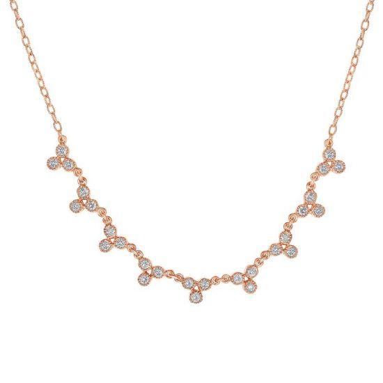 Колье с белыми бриллиантами,  Больше Изображение 2