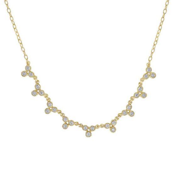 Колье с белыми бриллиантами,  Больше Изображение 3