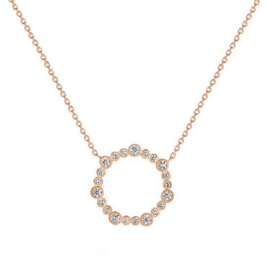 Колье с кругом из бриллиантов,  Больше Изображение 2