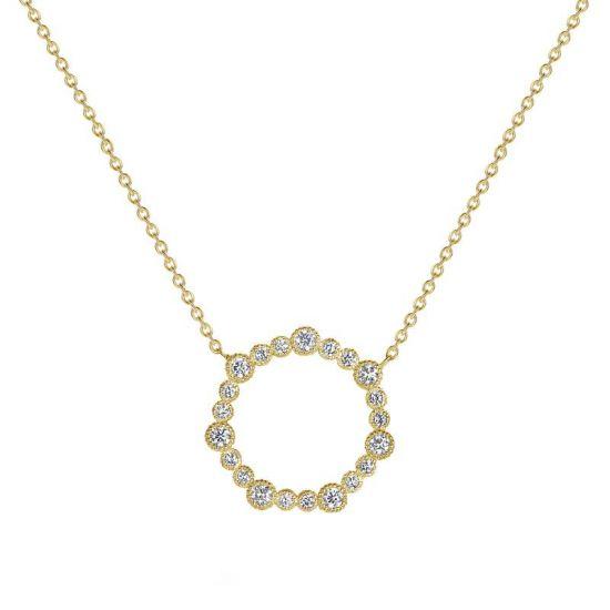 Колье с кругом из бриллиантов,  Больше Изображение 3