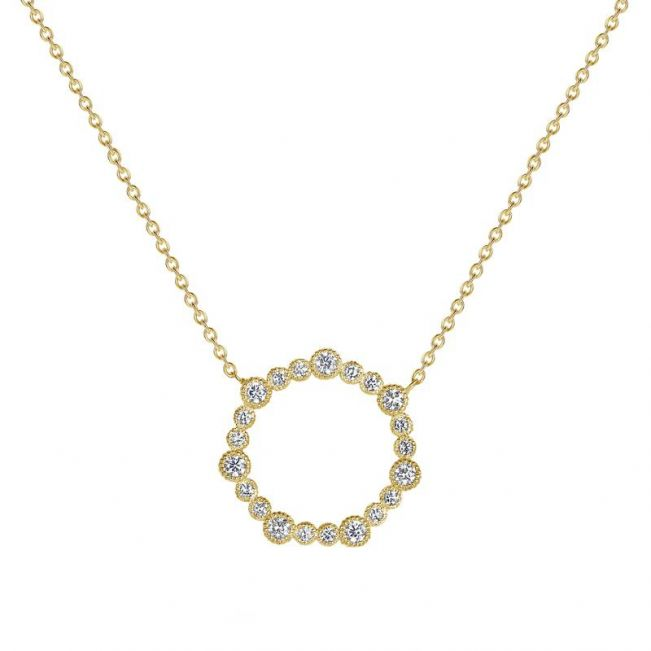 Колье с кругом из бриллиантов