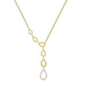 Колье с бриллиантами из белого и желтого золота