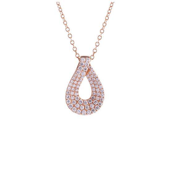 Кулон Капля с белыми бриллиантами, Больше Изображение 1