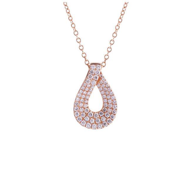 Украшение на шею с белыми бриллиантами