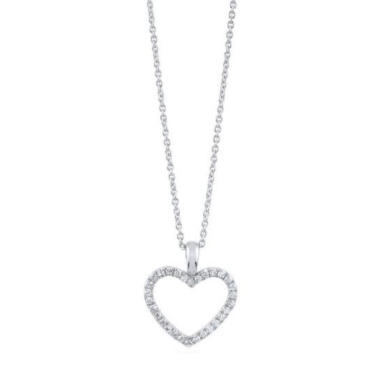 Кулон в форме сердца с бриллиантами, Больше Изображение 1