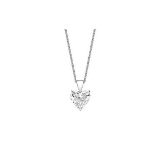 Кулон с бриллиантом в форме сердца, Больше Изображение 1