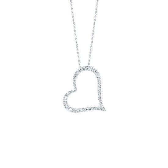 Украшение на шею в форме сердца с бриллиантами, Больше Изображение 1