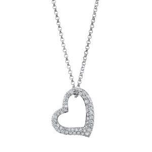 Украшение на шею Сердце с бриллиантами