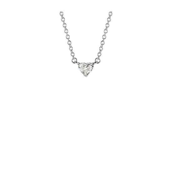 Кулон с маленьким бриллиантом Сердце, Больше Изображение 1