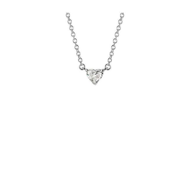 Кулон с маленьким бриллиантом Сердце