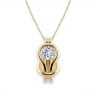 Кулон с белым бриллиантом в узле, Изображение 3
