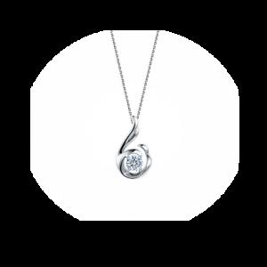 Ннобычный кулон с бриллиантом