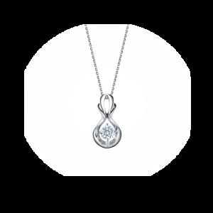 Кулон с бриллиантом на цепочке