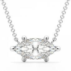 Кулон на цепочке с бриллиантом огранки «маркиз»