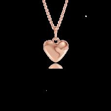 Золотой кулон Сердечко на цепочке