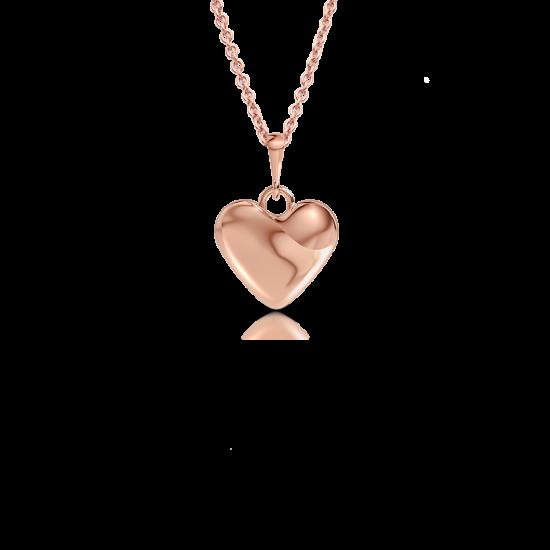 Золотой кулон Сердечко на цепочке, Больше Изображение 1