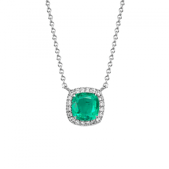 Кулон с изумрудом и бриллиантами, Больше Изображение 1