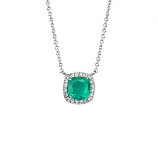 Кулон с изумрудом и бриллиантами,  Больше Изображение 2