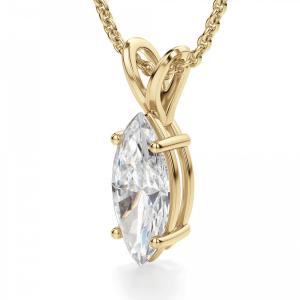 Кулон с бриллиантом маркиз - Фото 1